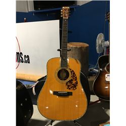BLUERIDGE MODEL BR-280 ACOUSTIC GUITAR WITH HARD-SHELL CASE