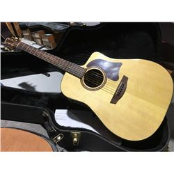 GARRISON MODEL G40-CE ACOUSTIC GUITAR WITH HARD-SHELL CARRYING CASE #030130022