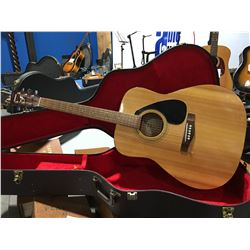 YAMAHA MODEL F-310 ACOUSTIC GUITAR WITH HARD-SHELL CARRYING CASE