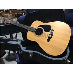 ETERNA BY YAMAHA MODEL EF-35 ACOUSTIC GUITAR WITH HARD-SHELL CARRYING CASE