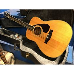 YAMAHA FG-340 ACOUSTIC GUITAR WITH HARD-SHELL CARRYING CASE