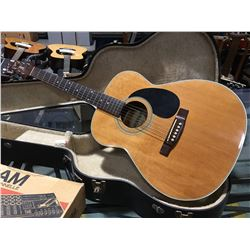 VANTAGE MODEL VF-20 ACOUSTIC GUITAR WITH HARD-SHELL CARRYING CASE