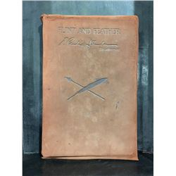 """1913 """"FLINT & FEATHER"""" 2ND EDITION LEATHER BOND BOOK BY E. PAULINE JOHNSON"""