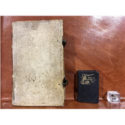 "1710 GERMAN BOOK - A VERY OLD ""LADY OF THE LAKE"" MINIATURE BOOK & A VERY VERY SMALL MINIATURE BIBLE"