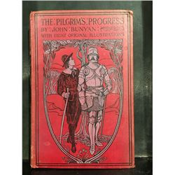 """THE PILGRAMS PROGRESS"" BY JOHN BUNYAN WITH 8 ORIGINAL ILLUSTRATIONS - NO DATE BEFORE COPYRIGHT LAW"