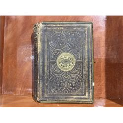 1867 HOLY BIBLE - MISSING BACK COVER