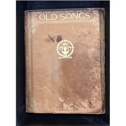 COPYRIGHT 1888 OLD SONGS BOOK -  LEATHER BOUND