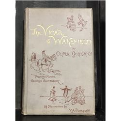 "INSCRIBED 1888 ""THE VICOR OF WAKEFIELD"" BY OLIVER GOLDSMITH"