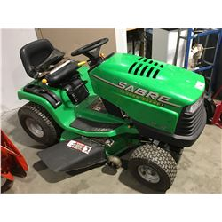 "SABRE BY JOHN DEERE 17HP/42"" RIDE-ON LAWN MOWER"