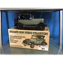 BEAMS 1929 FORD PHAETON HANDCRAFTED PORCELAIN LIQUOR DECANTER WITH WHISKEY