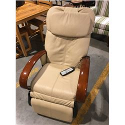 BEIGE LEATHER MASSAGE CHAIR