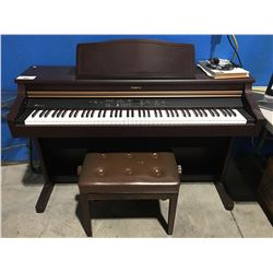 ROLAND HP107 DIGITAL PIANO WITH STOOL