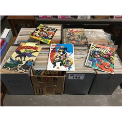 8 BOXES OF VINTAGE MARVEL & DC COMICS