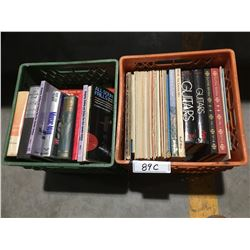 2 BOXES OF GUITAR MUSIC BOOKS