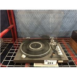 TOSHIBA MODEL SR-250 TURNTABLE - DAMAGED DUST COVER