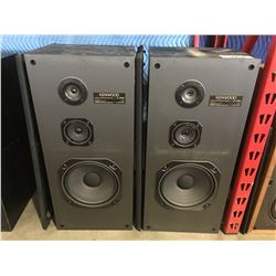 PAIR OF KENWOOD JL-595 HOME AUDIO SPEAKERS WITH DUST COVERS
