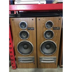 PAIR OF TECHNICS A31 HOME AUDIO SPEAKERS WITH DUST COVERS