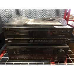 DENON MODEL AVR-1601 STEREO RECEIVER WITH DENON COMPACT DISC PLAYER & REMOTE