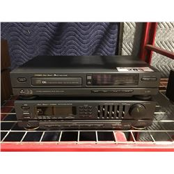 FISHER MODEL RS-9005 STEREO RECEIVER - WITH FISHER COMPACT DISC PLAYER - NO REMOTES