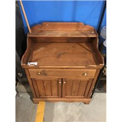 COUNTRY PINE KITCHEN CABINET/WASH STAND