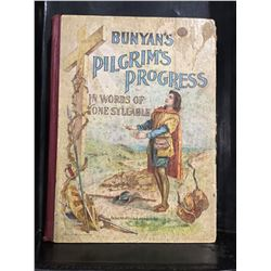 "VINTAGE BUNYAN'S ""PILGRIMS PROGRESS IN WORDS OF ONE SYLLABLE"" COPYRIGHT 1896 BOOK"