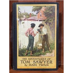 """THE ADVENTURES OF TOM SAWYER"" BY MARK TWAIN COPYRIGHT 1917 - NICE OLD BOOK"