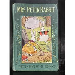 "1919 ""MISS PETER RABBIT"" THORNTON W. BURGESS BOOK"