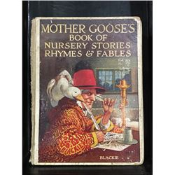 "INSCRIBED 1930 ""MOTHER GOOSES BOOK OF NURSERY STORIES, RHYMES & FABLES"" - BINDING LOOSE"