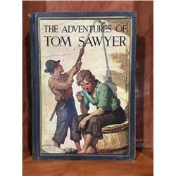 "INSCRIBED 1940 ""THE ADVENTURES OF TOM SAWYER"" BY MARK TWAIN BOOK"