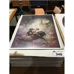 1 BOX OF 35 ASSTD FANTASY ART PRINTS