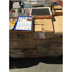 PALLET LOT OF ASSTD CD'S, BOOKS, MAGAZINES MISC. ITEMS