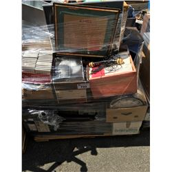 PALLET LOT OF ASSTD GENERAL HOUSEHOLD, CD'S, VINTAGE ELECTRONICS ECT