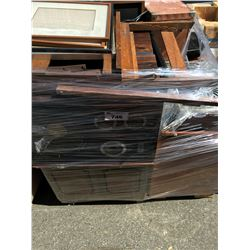 PALLET LOT OF MISC.  FURNITURE ITEMS, ELECTRONICS ECT.