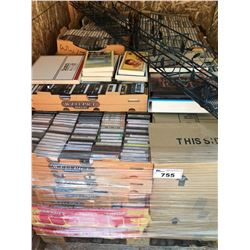 PALLET LOT OF ASSTD CASSETTE TAPES