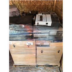 PALLET LOT OF ASSTD VINTAGE ELECTRONICS, MUSIC CD'S ECT