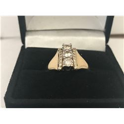 LADIES 14 WHITE & YELLOW GOLD 21 DIAMOND RING - APPRAISED VALUE $5810.00 (0.87CTS DIAMONDS ,