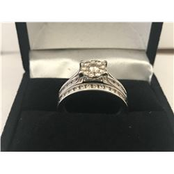 LADIES 10K WHITE GOLD 41 DIAMOND RING - APPRAISED VALUE $5045.00 (0.93CTS DIAMONDS, 4.2GMS GOLD )