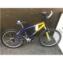 BLUE/YELLOW PRECISION MOUNTAIN BIKE