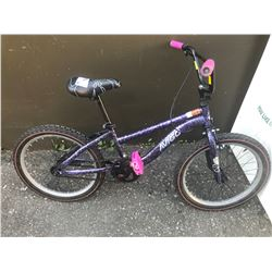 PURPLE AVIGO CHILDS BIKE