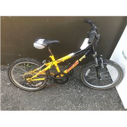 YELLOW CCM CHILDS BIKE