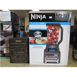 1200W NINJA BLENDER AUTO IQ & NINJA STORAGE BOX WITH SPIRALIZER DISCS