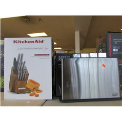 KITCHENAID CLASSIC FORGED CUTLERY SET & JOSEPH INDEX 100 CHOP BOARD SET