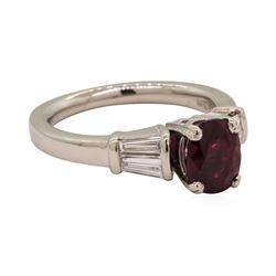 2.50 ctw Ruby and Diamond Ring - Platinum