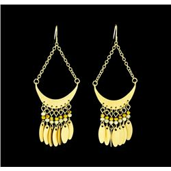 Half Moon Earrings - Gold Plated