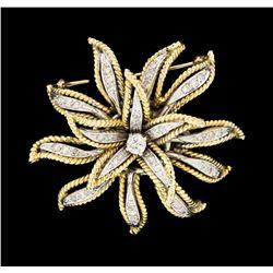 0.80 ctw Diamond Pin - 14KT Yellow and White Gold