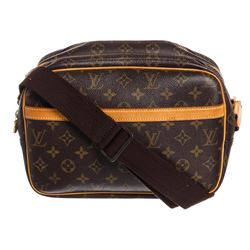 Louis Vuitton Monogram Canvas Leather Reporter PM Bag