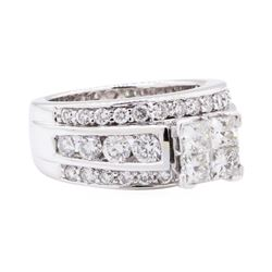 2.50 ctw Diamond Ring - 14KT White Gold