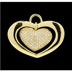 1.56 ctw Diamond Pendant - 18KT Yellow Gold