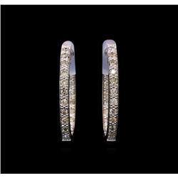 0.55 ctw Diamond Earrings - 14KT White Gold