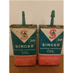 LOT OF 2 TINS (SINGER OIL) *30 CENT TINS*